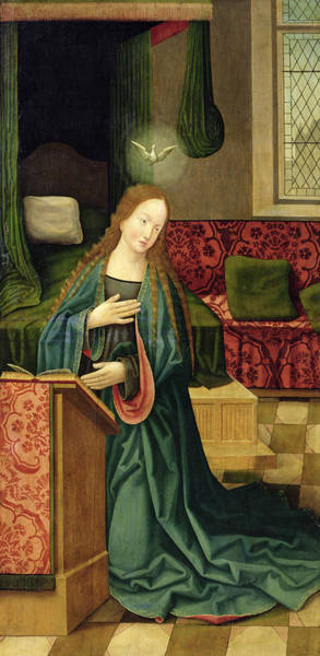Annunciation Wall Art - Painting - The Annunciation by German School