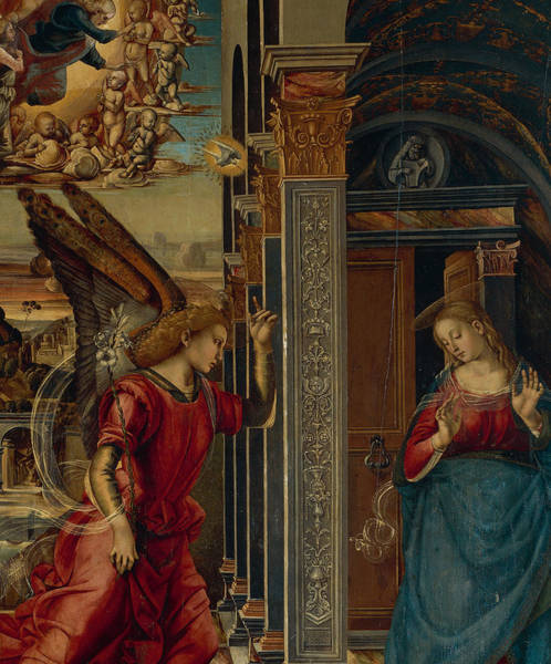 Gabriel Painting - The Annunciation by Luca Signorelli