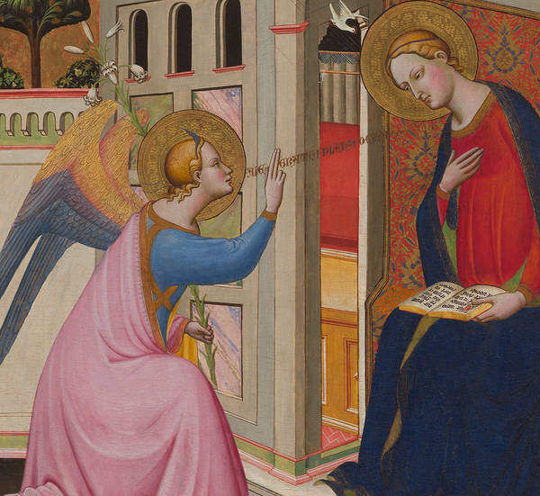 Mother Of God Wall Art - Painting - The Annunciation by Master of Saint Verdiana