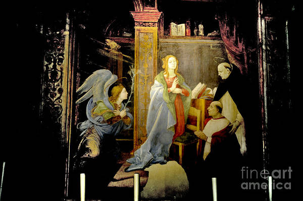 Photograph - The Annunciation Of The Virgin By Fra Lippi by Brenda Kean