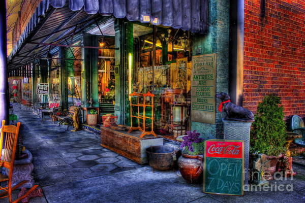 Wall Art - Photograph - Greensboro Antique Mall Store Front In Greensboro Georgia by Reid Callaway
