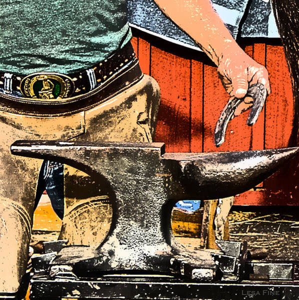 Photograph - The Anvil And The Horseshoe Art by Lesa Fine