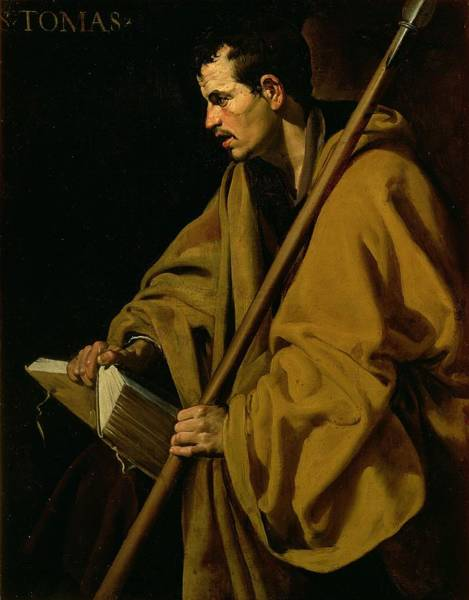 Disciple Wall Art - Painting - The Apostle St. Thomas by Diego Rodriguez de Silva y Velazquez