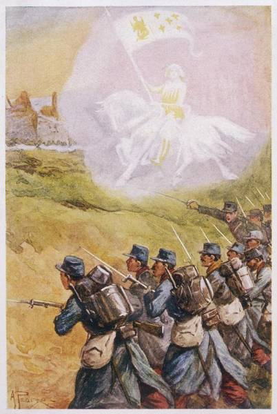 Wall Art - Drawing - The Apparition Of Jeanne  D'arc by Mary Evans Picture Library
