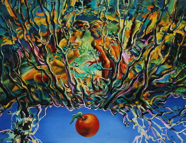 Wall Art - Painting - The Apple by Ivan Tanev