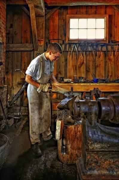 Blacksmith Photograph - The Apprentice Hdr by Steve Harrington
