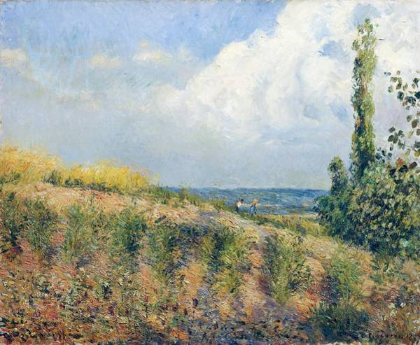 Galleria Painting - The Approaching Storm by Camille Pissarro