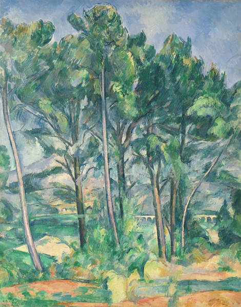 Impressionist Photograph - The Aqueduct Montagne Sainte-victoire Seen Through Trees, C.1885-87 Oil On Canvas by Paul Cezanne