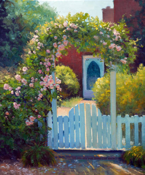 Arbor Wall Art - Painting - The Arbor Gate by Armand Cabrera