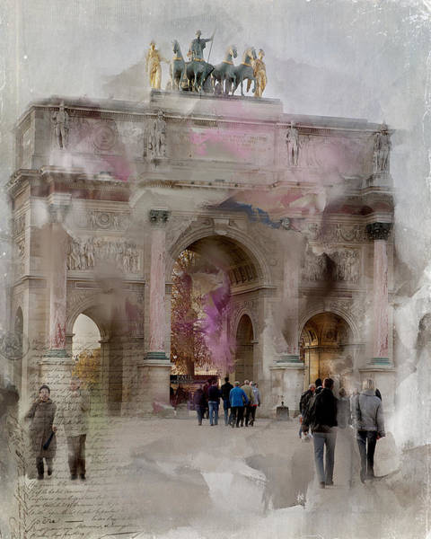 Photograph - The Arc De Triomphe Du Carrousel by Evie Carrier