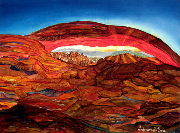 Grand Mesa Painting - The Arch by Anderson R Moore