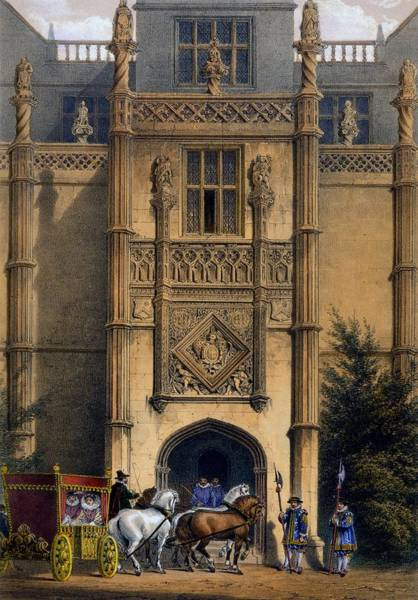Elizabethan Wall Art - Drawing - The Arch, Montacute House, Somerset by Joseph Nash