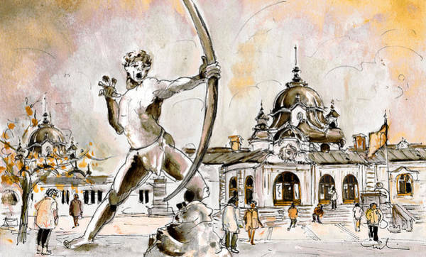 Painting - The Archer From Budapest by Miki De Goodaboom