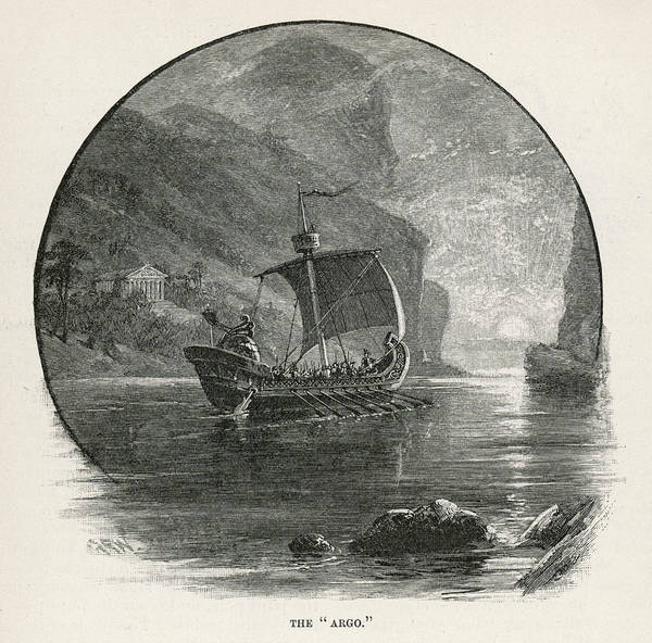 Wall Art - Drawing - The 'argo' Sails Up The  Bosphorus by Mary Evans Picture Library