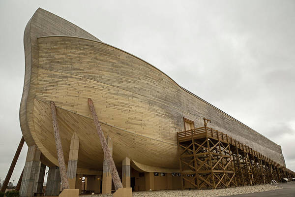 Creationism Wall Art - Photograph - The Ark Encounter Creationist Theme Park by Jim West/science Photo Library