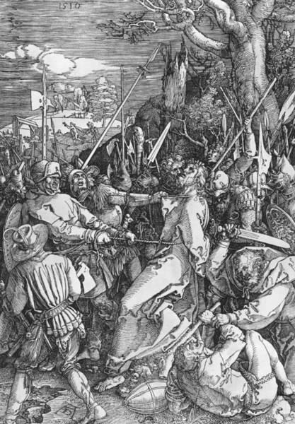Albrecht Durer Wall Art - Painting - The Arrest Of Jesus Christ by Albrecht Durer or Duerer