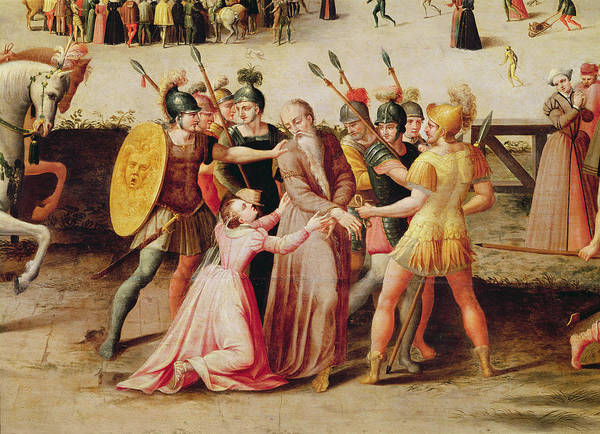 Tudor Photograph - The Arrest Of Sir Thomas More In 1535 Oil On Panel Detail Of 40437 by Antoine Caron