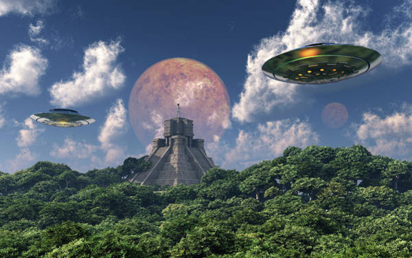 Ufology Photograph - The Arrival Of Planet Nibiru As Seen by Mark Stevenson