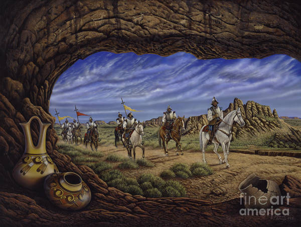 Painting - The Arrival by Ricardo Chavez-Mendez