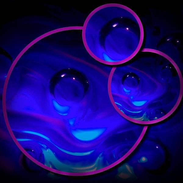 Photograph - Art Glass Project-4 Cobalt Blue Lampwork by Susan Maxwell Schmidt