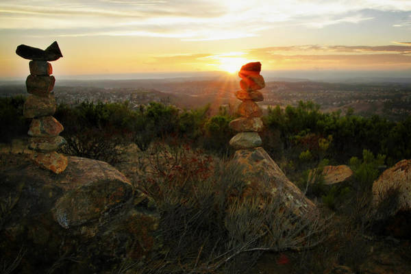 Balancing Rocks Photograph - The Art Of Cairns by Christine Till