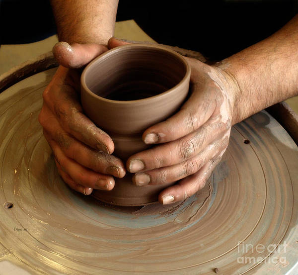 Potters Wheel Wall Art - Photograph - The Art Of Hands by Steven Digman