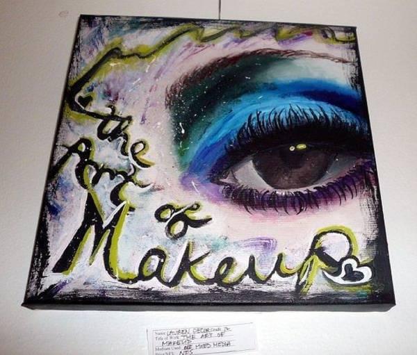 Wall Art - Painting - The Art Of Makeup by Lauren  Pecor