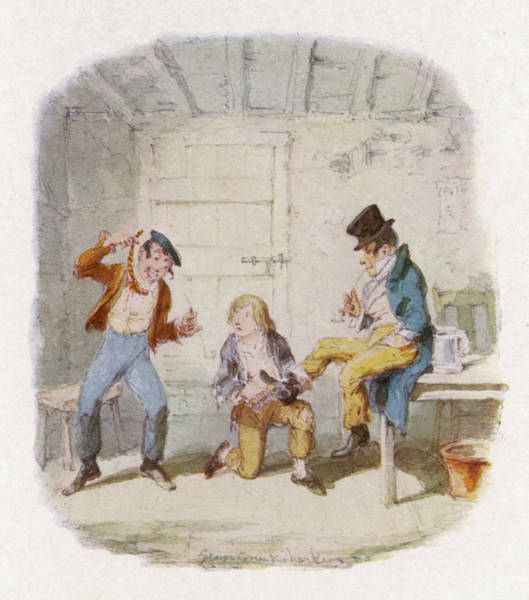 Artful Drawing - The Artful Dodger And An  Accomplice by Mary Evans Picture Library