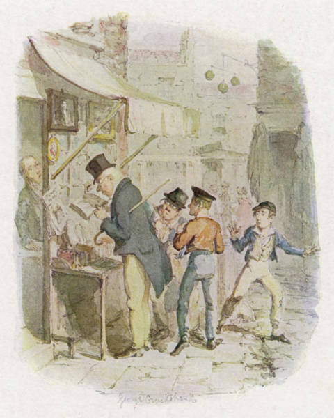 Artful Drawing - The Artful Dodger Teaches  Oliver by Mary Evans Picture Library