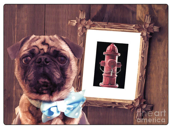 Pug Photograph - The Artist And His Masterpiece by Edward Fielding