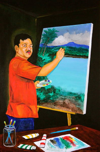 Painting - The Artist by Cyril Maza