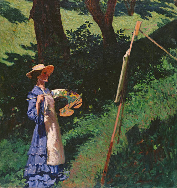 Palette Photograph - The Artist by Karoly Ferenczy