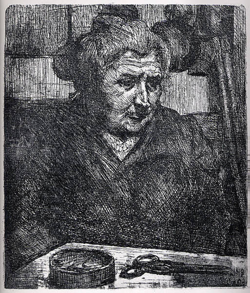 Boccioni Wall Art - Drawing - The Artists Mother At A Table by Umberto Boccioni