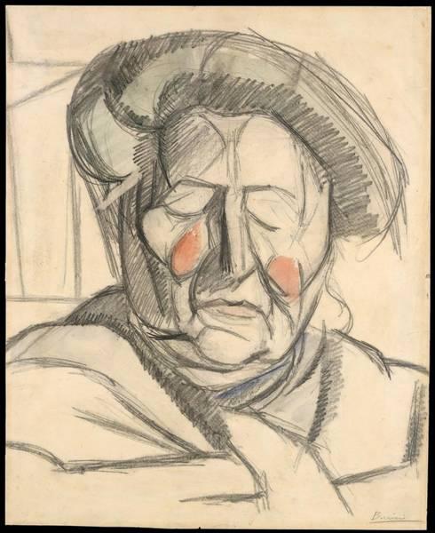 Boccioni Wall Art - Drawing - The Artists Mother by Umberto Boccioni