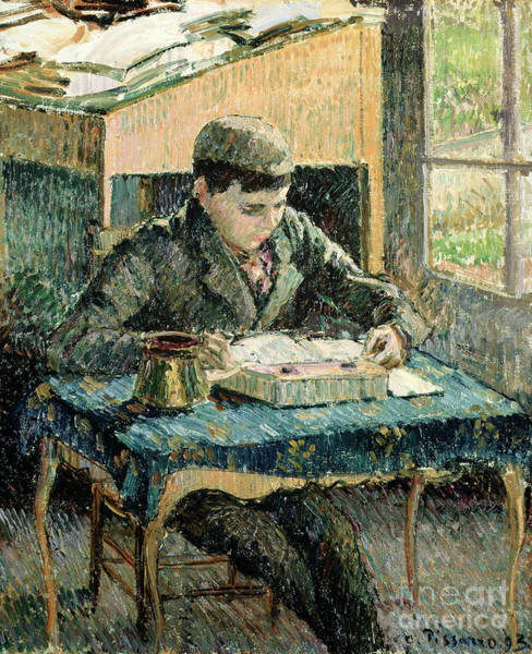 Classroom Painting - The Artists Son by Camille Pissarro