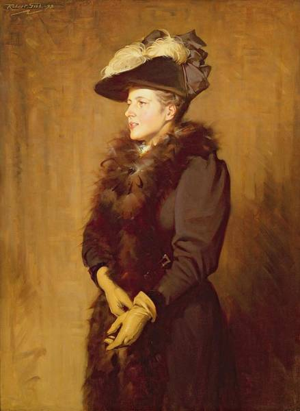 Boa Painting - The Artists Wife, 1893 by Robert Gibb