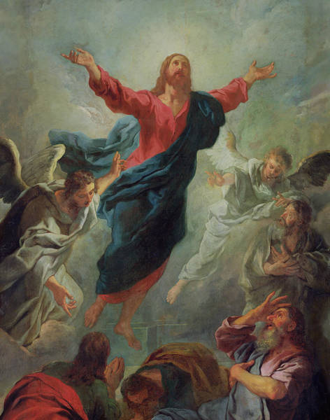 Angelic Painting - The Ascension by Jean Francois de Troy