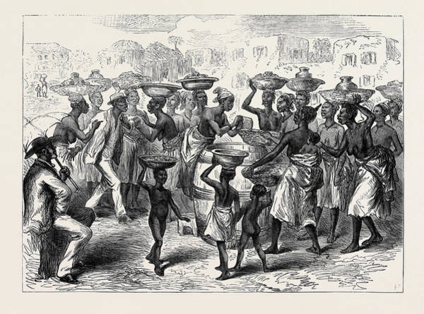 Indian Corn Drawing - The Ashantee War Selling Indian Corn In The Streets Of Cape by Indian School