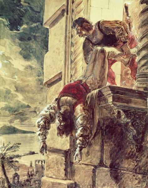 Killing Wall Art - Photograph - The Assassination Of Prince Andrew Of Hungary At Queen Joan I Of Naples Behest, 18th September 1835 by Karl Pavlovich Briullov