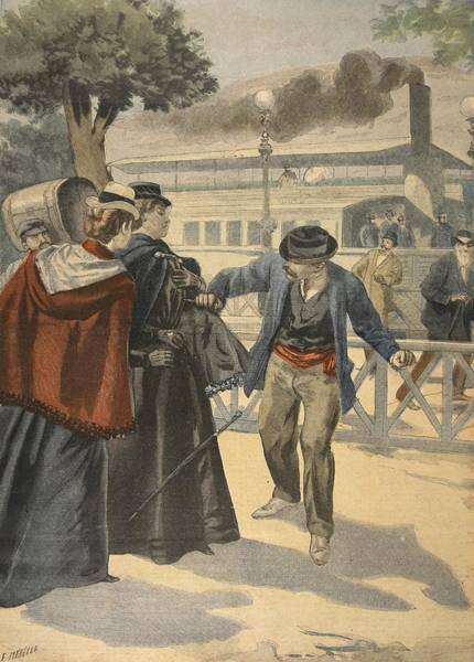 Attack Drawing - The Assassination Of The Empress by French School