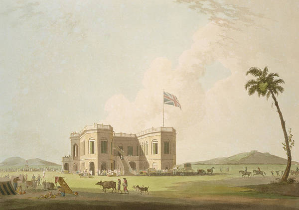 Indian Drawing - The Assembly Rooms On The Race Ground by Thomas Daniell