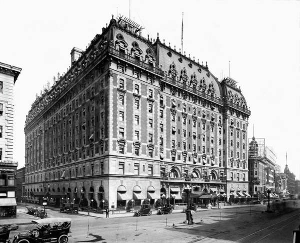 Photograph - The Astor Hotel On Broadway by Underwood Archives