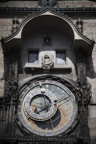 Photograph - The Astronomical Clock by Maria Heyens