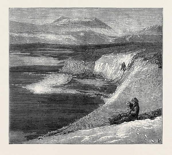 Wall Art - Drawing - The Austrian Polar Expedition A Nova Zembla Landscape by Austrian School