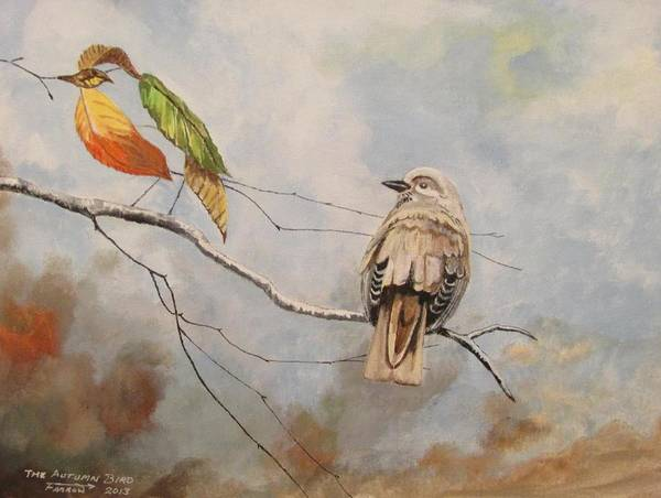 Wall Art - Painting - The Autumn Bird by Dave Farrow