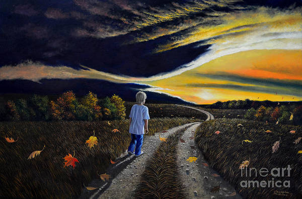 Painting - The Autumn Breeze by Christopher Shellhammer