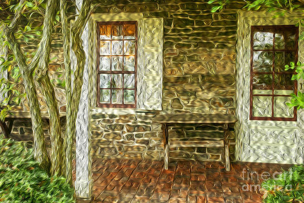 Wall Art - Photograph - The Back Porch by Paul W Faust -  Impressions of Light