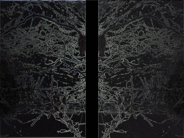 Deer Skull Digital Art - The Backyard by Tony Fiedler