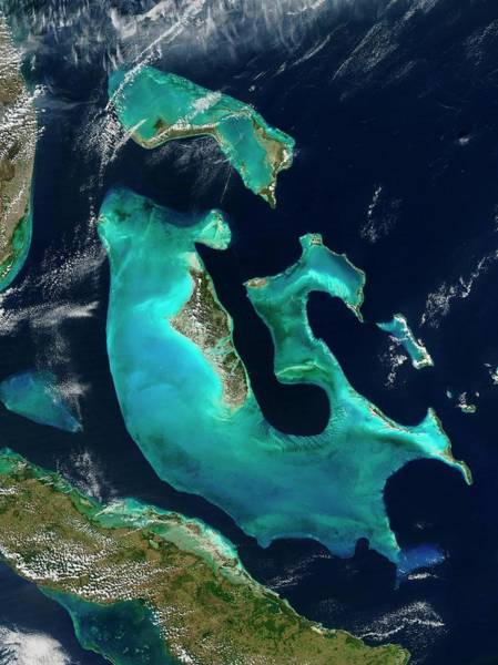 Andros Photograph - The Bahamas by Nasa/science Photo Library