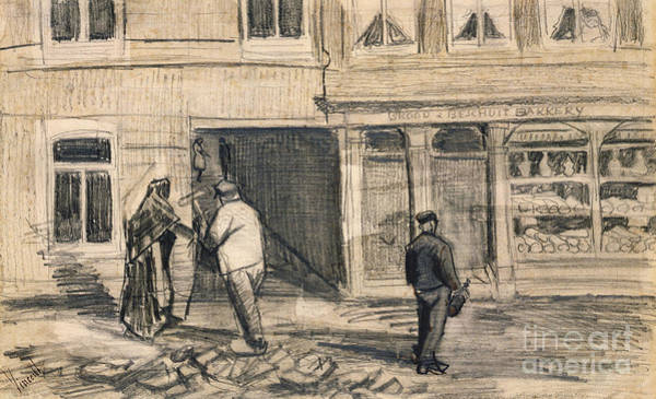 Pastel Pencil Drawing - The Bakery In De Geest by Vincent Van Gogh